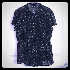 Torrid Polka Dot Sheer Blouse Size 0